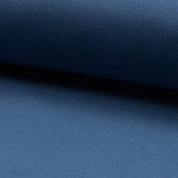 Glattes Bündchen jeansblau