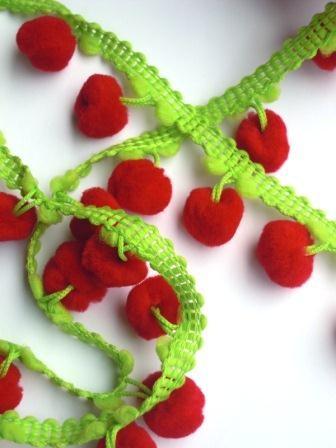 Pommerlborte, zweifärbig rot-grün