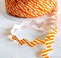 Zackenlitze, gestreift, orange