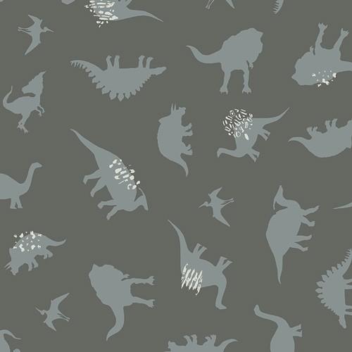Art Gallery Esoterra Dinos grau, Baumwollstoff