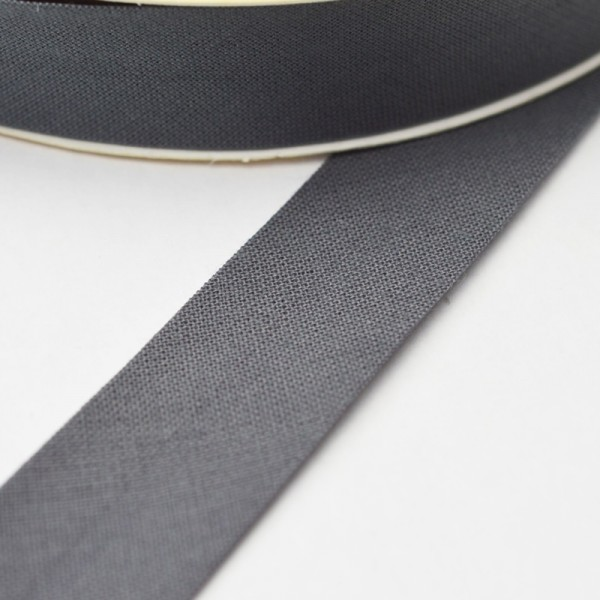 Schrägband, 20 mm, dunkelgrau