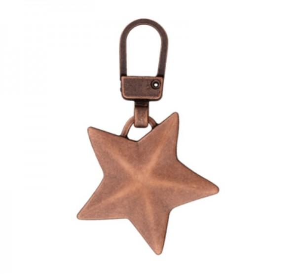 Anhänger für Reißverschlüsse, Stern bronze