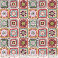 blendfabrics, Riding Hood Crochet Granny Squares weiß, Webstoff