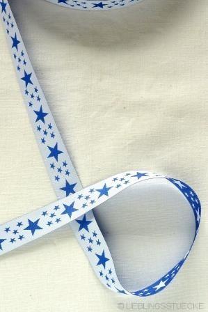 Stars..., dunkelblau, Webband beidseitig
