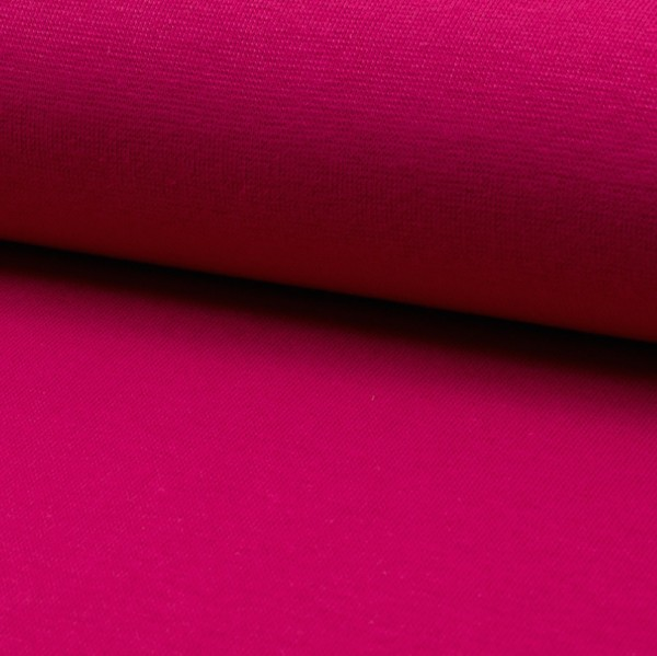 Glattes Bündchen dunkles pink