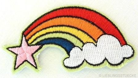 Applikation Regenbogen mit Wolke und Stern