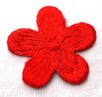 Applikation Blümchen, rot