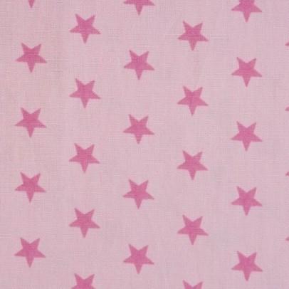 Stenzo kleine Sterne rosa auf hellrosa, Popeline