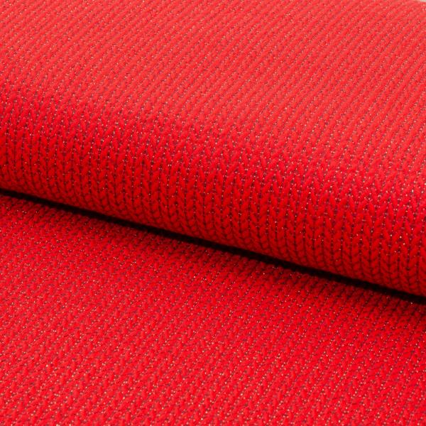 Bio-Strickstoff Knit Knit Glow rot, *Letztes Stück ca. 80 cm*