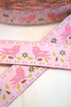 Singing Birds, rosa, Webband