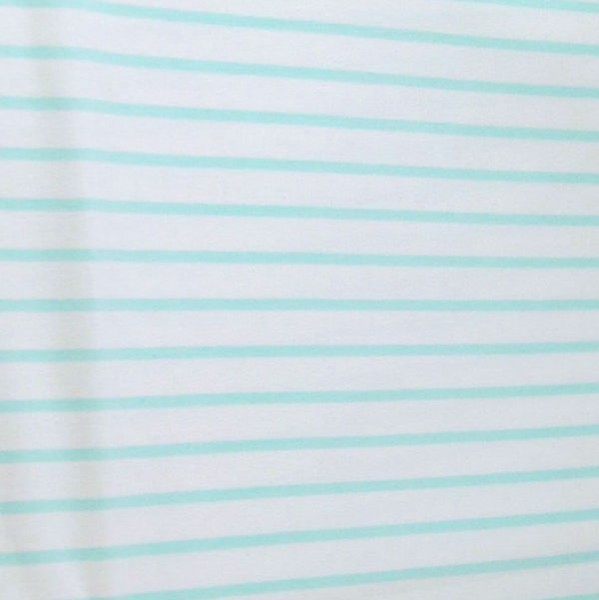Bonnie Stripes, mint auf weiß, Jersey