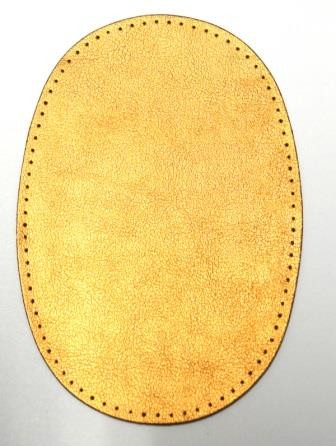Patch Kunstleder, bronze