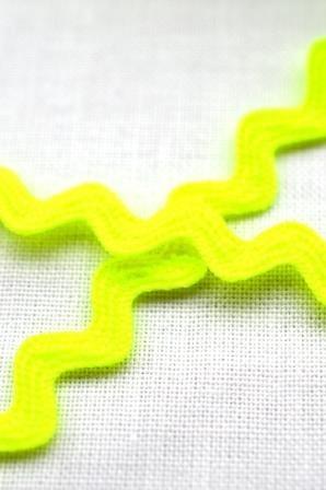 Zackenlitze 8 mm, neongelb