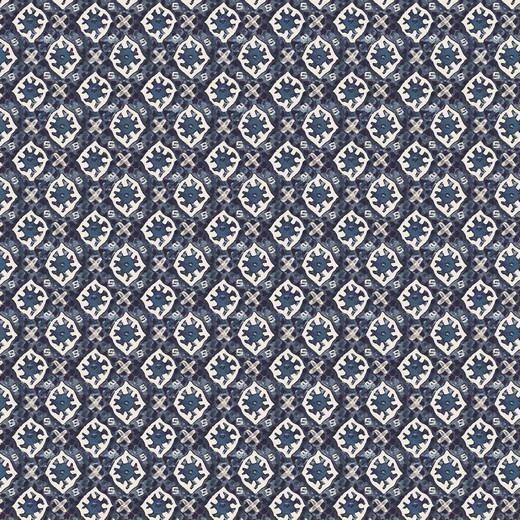 Batik Style Blue, Baumwollstoff, waschbar bei 60°