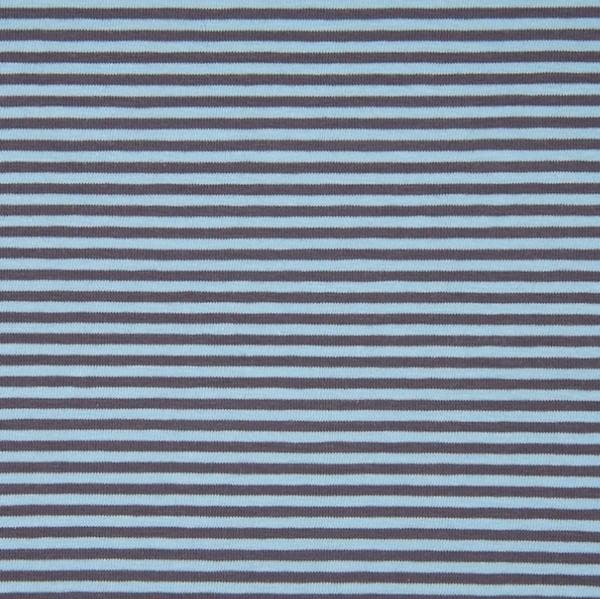 Mara, schmale Streifen hellblau-grau, Jersey