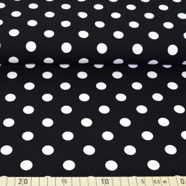 Mila Punkte, weiß auf schwarz, Jersey