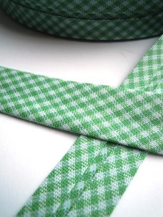 Westfalen Schrägband, karo dunkelgrün-weiß