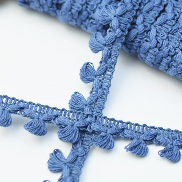 Büschelborte, klein, taubenblau