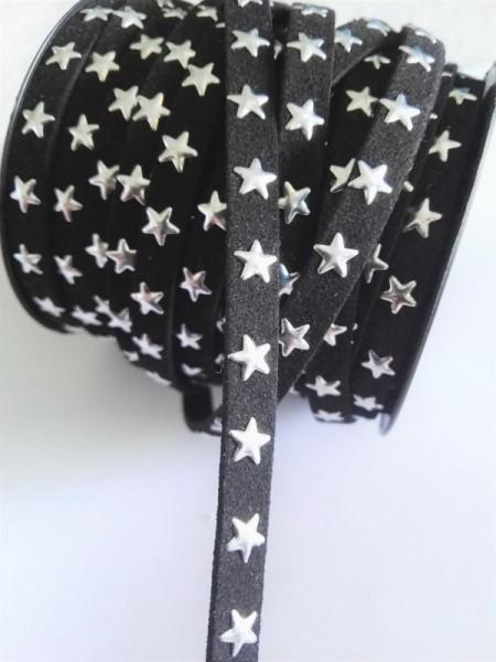 Lederband, Sterne, schwarz