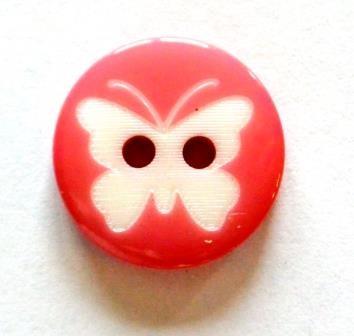 Schmetterling auf pink, Knopf
