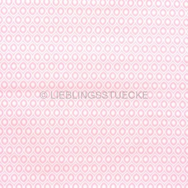 Mathilda Retromuster weiß-rosa