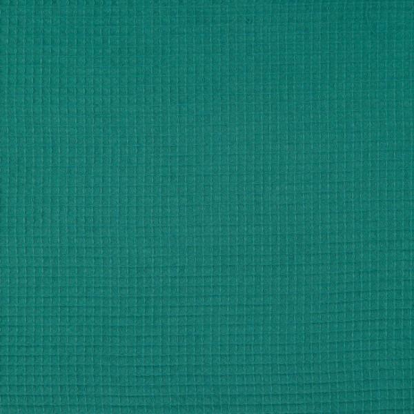 Waffelpique, dunkles türkisgrün