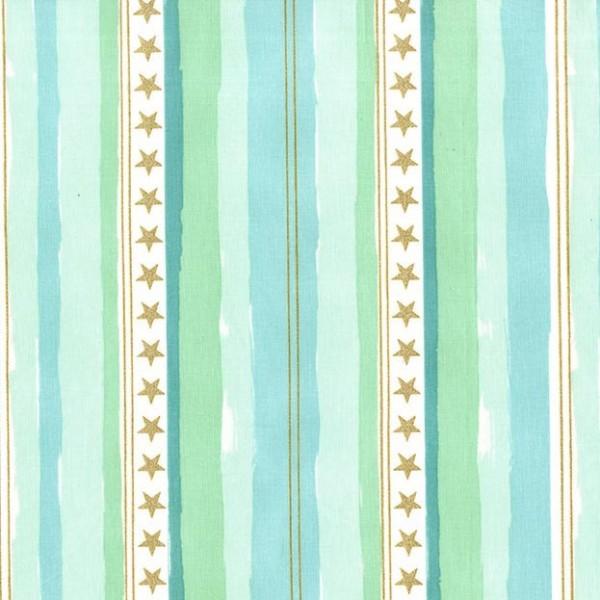 Michael Miller, Magic Stars And Stripes, aqua