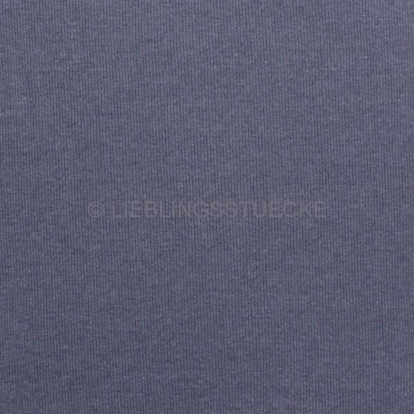 Ripp-Bündchen jeansblau meliert