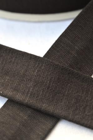 Viskosejersey-Schrägband, dunkelbraun