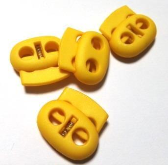 Kordelstopper, oval, gelb