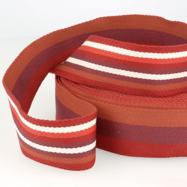 Gurtband, beidseitig gestreift, rot