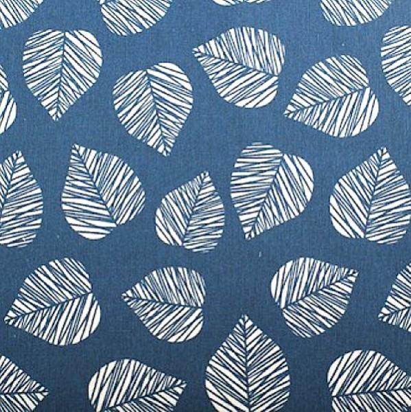 Ralf Dekostoff, Blätter auf jeansblau