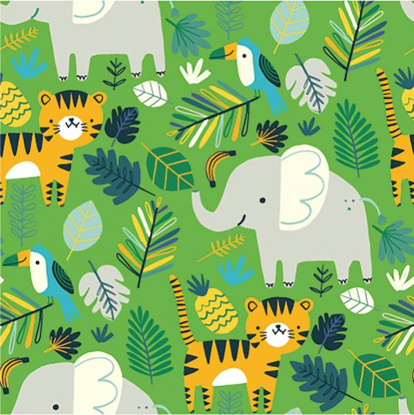Lucas Tiere im Dschungel, hellgrün, Sweat