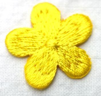 Applikation Blümchen, gelb