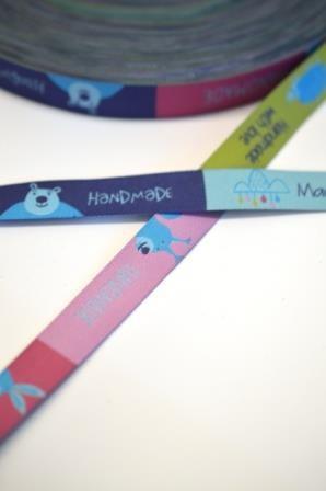 Handmade Zauberwald, rosa/blau, Webband