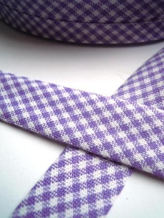 Westfalen Schrägband, karo lila-weiß