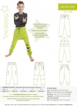 Minikrea Baggy-Pants 30304, Schnittmuster