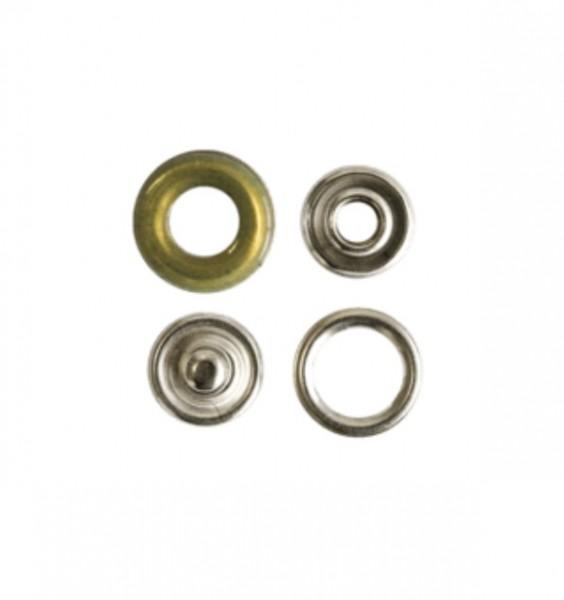 Druckknopf, Ring khaki, 12 mm