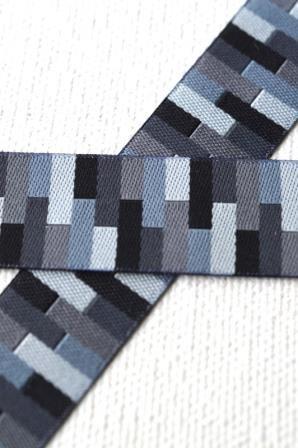 Rectangles, schwarz, Webband