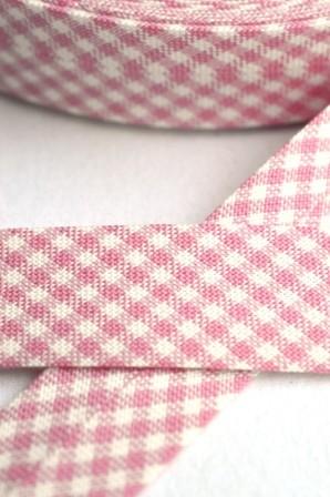 Westfalen Schrägband, karo rosa-weiß