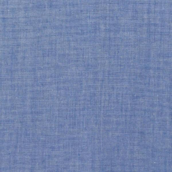Yarn Dyed mittelblau, Baumwollpopeline, waschbar bei 60°
