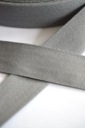 Köperband, 25 mm, dunkelgrau