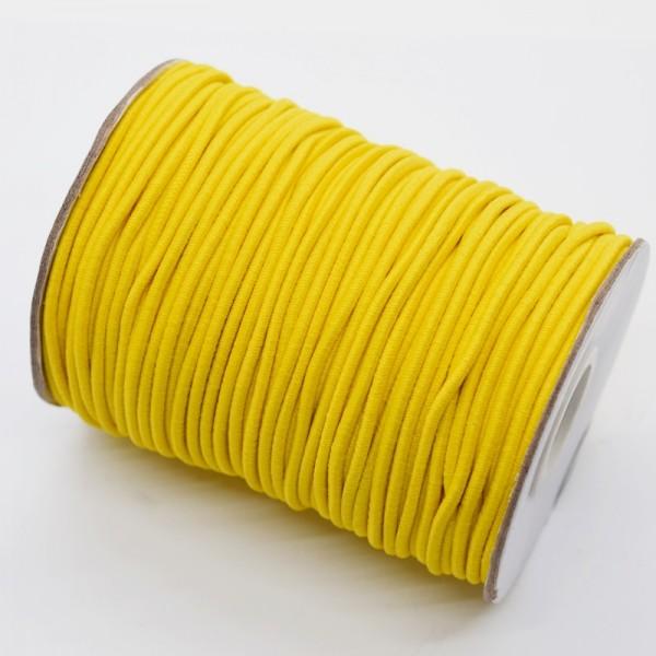 Gummischnur, 2 mm, gelb