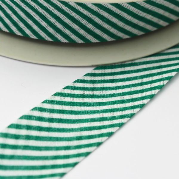 Schrägband, gestreift grün