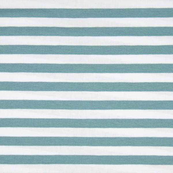 Valentin Streifenjersey breit mint-weiß