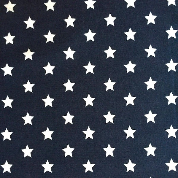 Emil, kleine Sterne, weiß auf nachtblau, Jersey