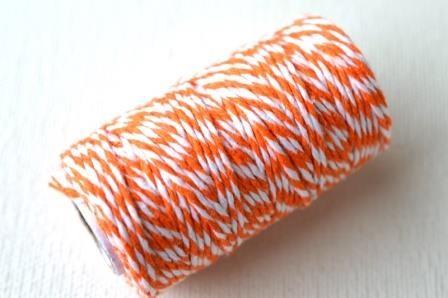 dünne Kordel, 1,5 mm, orange-weiß *SALE*