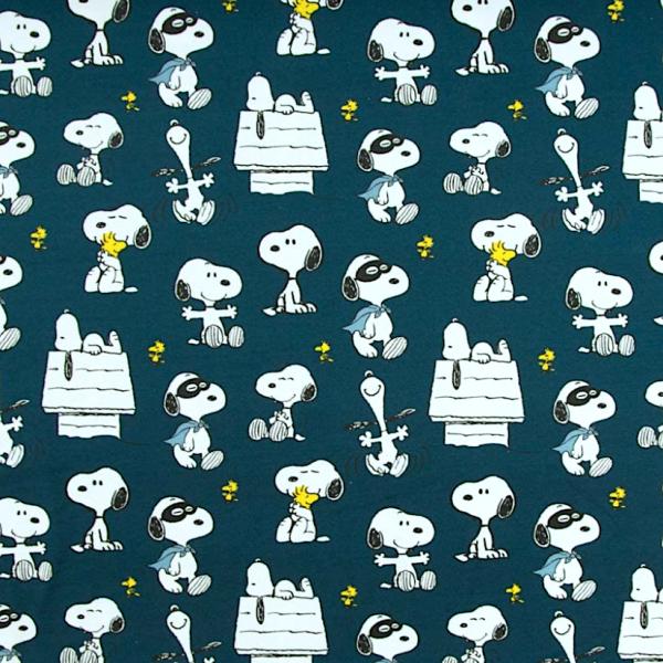 Peanuts, Snoopy Maske dunkelblau, Bio-Jersey