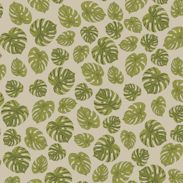 Dekostoff, Philodendron, leinen