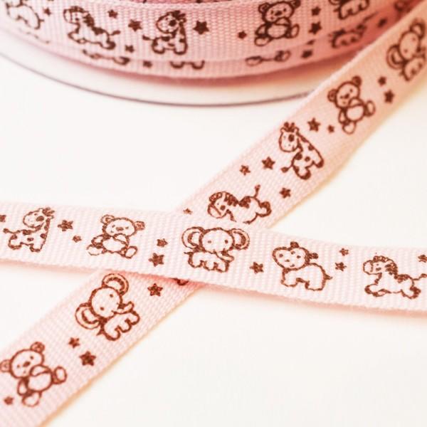 Animals, rosa, Ripsband *SALE*